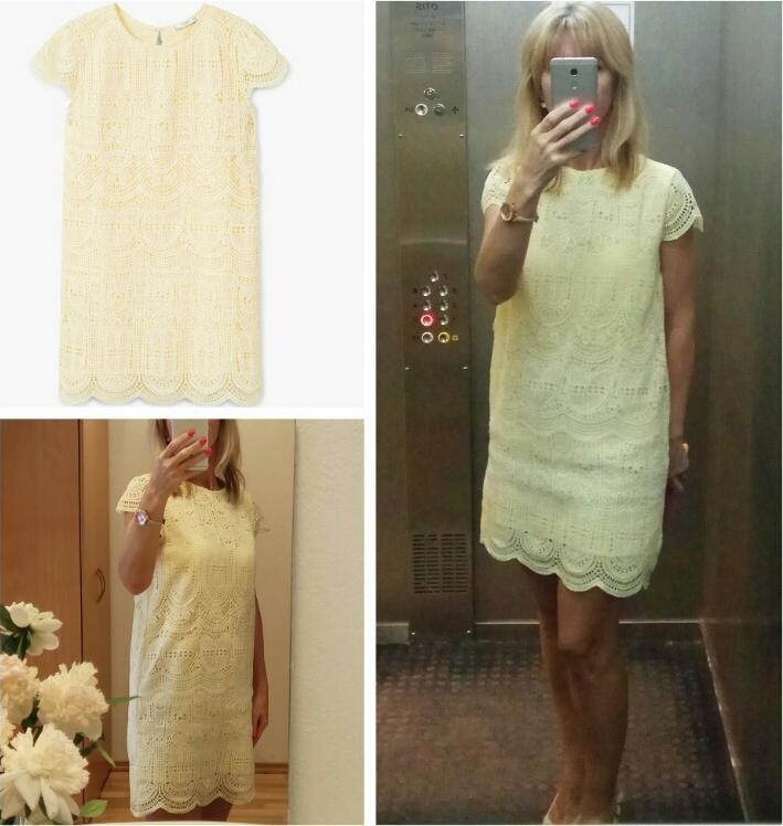 Отзыв на Платье с рисунком из Интернет-Магазина MANGO