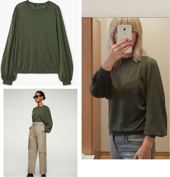 Отзыв на Пуловер с Шар рукава из Интернет-Магазина MANGO Outlet