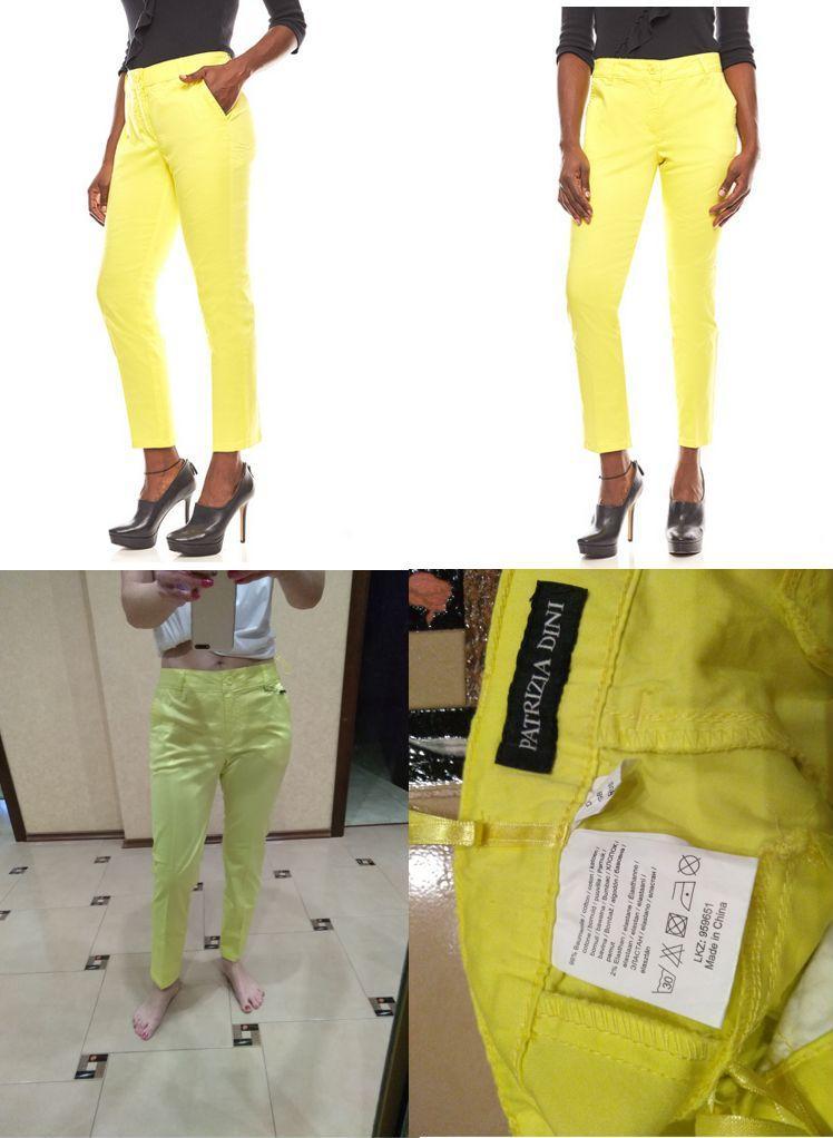 Отзыв на PATRIZIA DINI яркие для женщин брюки Короткий размер Желтый из Интернет-Магазина Outlet46