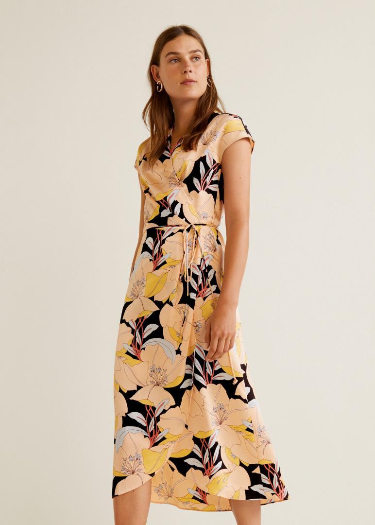 Отзыв на С пестрым рисунком платье на запах из Интернет-Магазина MANGO Outlet