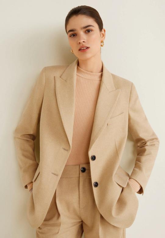 Отзыв на Костюм куртка с Шерсть из Интернет-Магазина MANGO Outlet