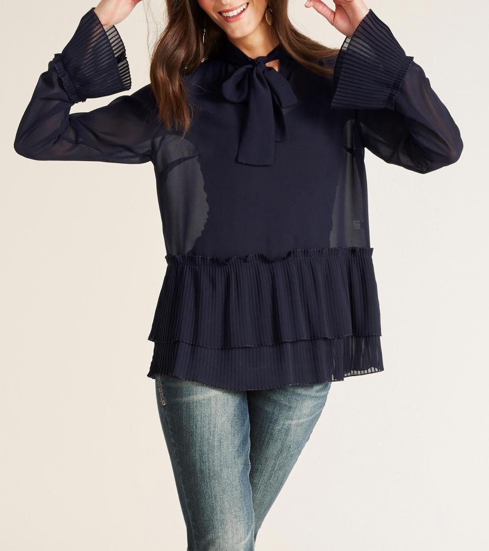Отзыв на Гейне Блузка Langarm-Рубашка современные для женщин Парадную Блузку с рукавом воланом Черный из Интернет-Магазина Outlet46