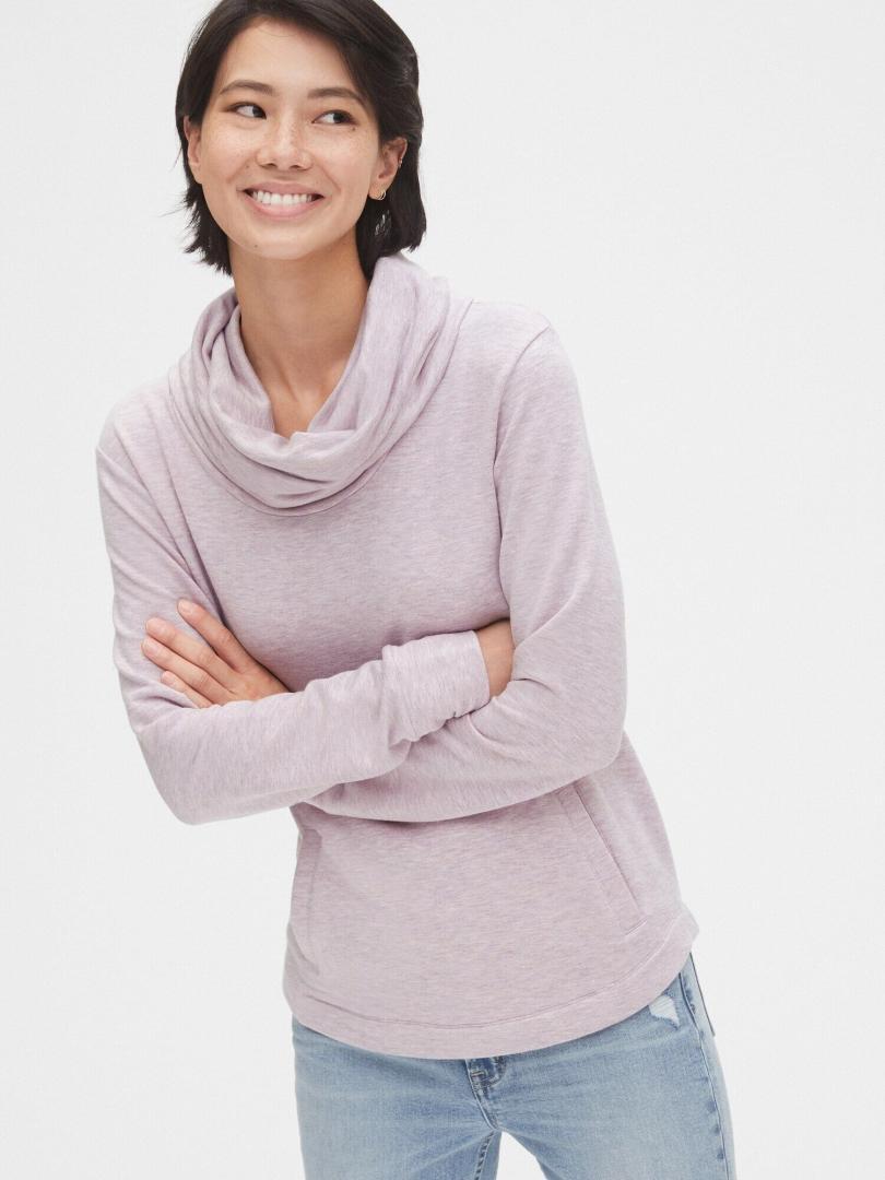 Отзыв на Суперсофт Терри Воротником-Хомутом Туника свитер €54,95 Новый В! Цвет: Розовый Хизер из Интернет-Магазина Gap