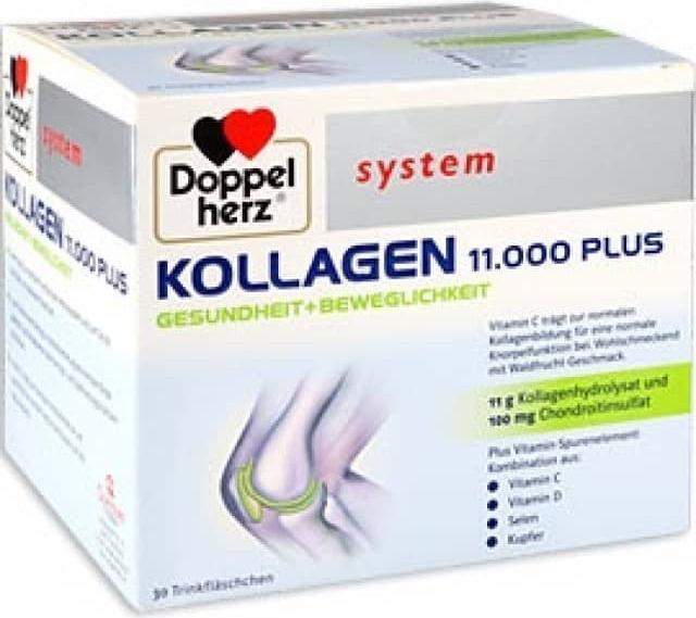 Отзыв на Doppelherz system Kollagen 11.000 Plus Gesundheit + Beweglichkeit из Интернет-Магазина DocMorris