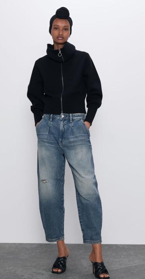 Отзыв на Джинсы Z1975 Аутентичные Напуском с Федеральный морщин из Интернет-Магазина Zara