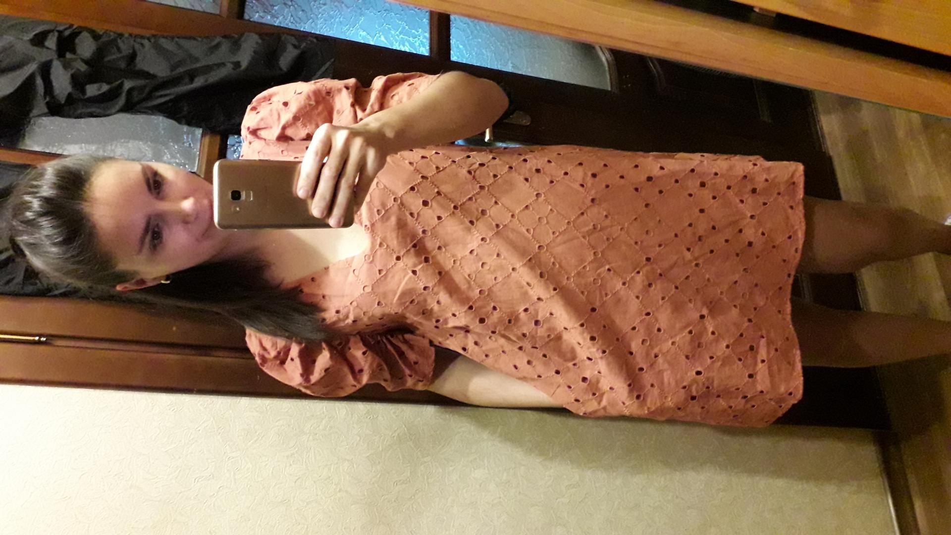 Отзыв на Платье с вышитыми отверстиями из Интернет-Магазина Zara