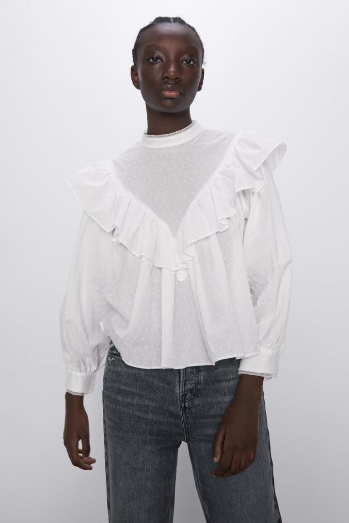 Отзыв на PLUMETIS-BLUSE с оборкой из Интернет-Магазина Zara