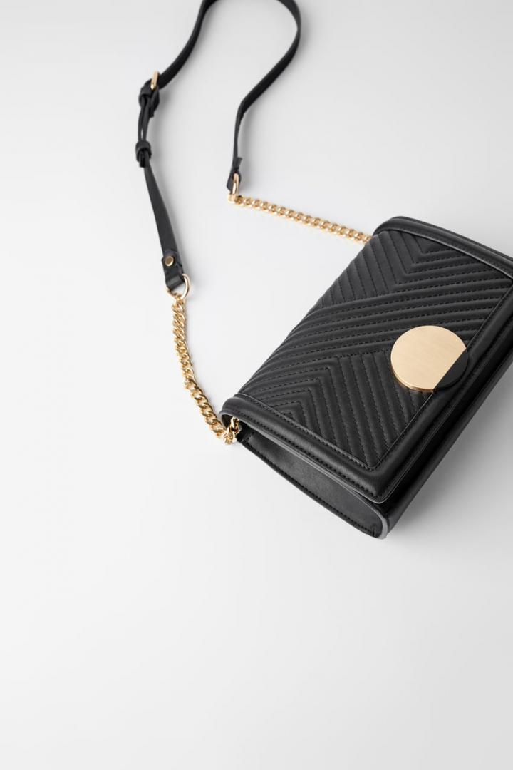 Отзыв на Сумка через плечо с МЕТАЛЛИЧЕСКОЙ ПРЯЖКОЙ из Интернет-Магазина Zara