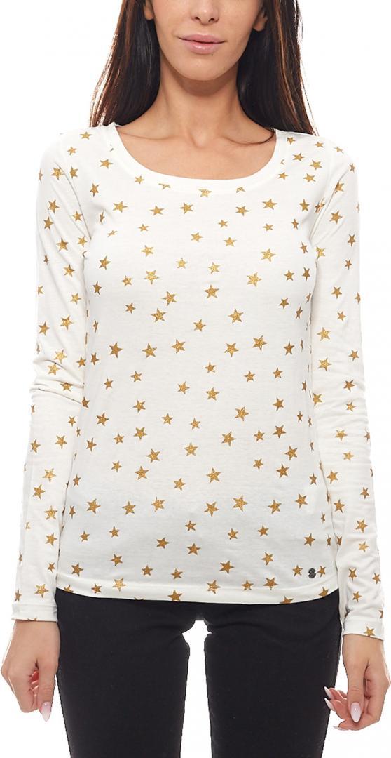 Отзыв на АЕК Лето для женщин кофта с длинным руковом современные Glitzer-Рубашка с Звезд Белый из Интернет-Магазина Outlet46