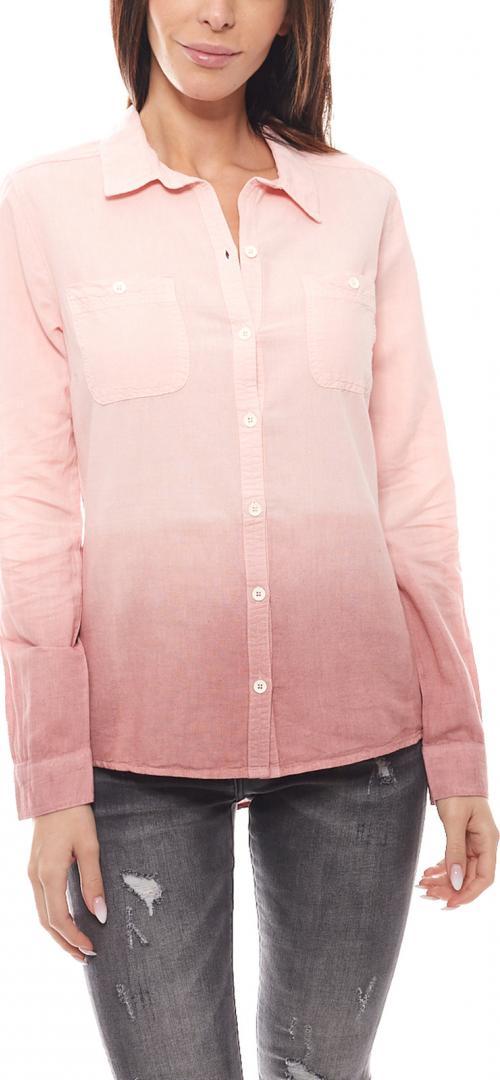 Отзыв на Eddie Leinen-Bluse Farbverlauf Rosa из Интернет-Магазина Outlet46