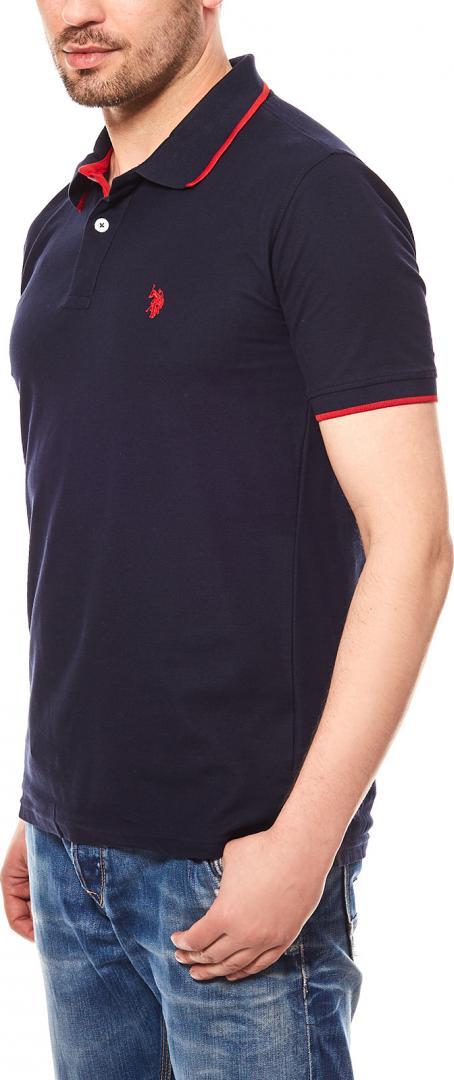 Отзыв на США Поло АССН. для мужчин Рубашка поло Shortsleeve Синий из Интернет-Магазина Outlet46