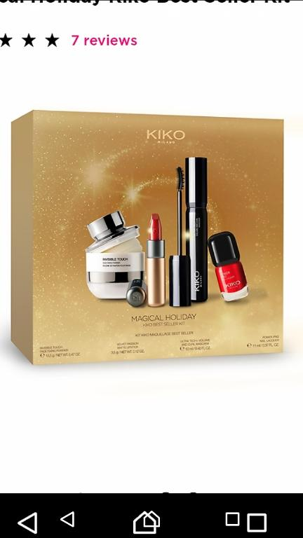 Отзыв на Magical Holiday Kiko Best Seller Kit из Интернет-Магазина Kikocosmetics