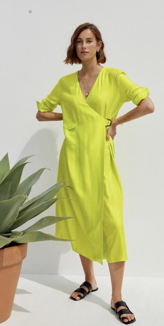 Отзыв на Воздушный Платье с Пряжка из Интернет-Магазина MANGO Outlet