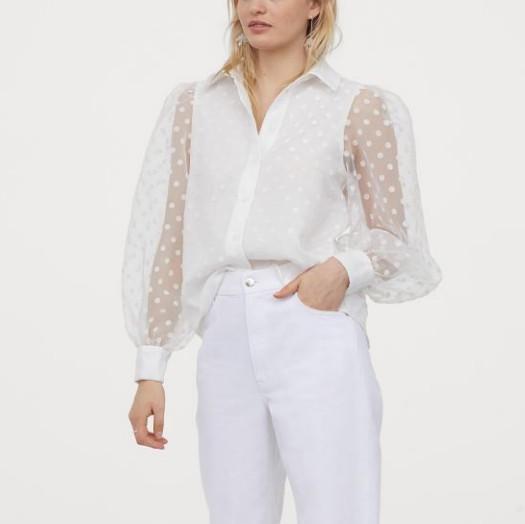 Отзыв на Блузка с Органза из Интернет-Магазина H&M
