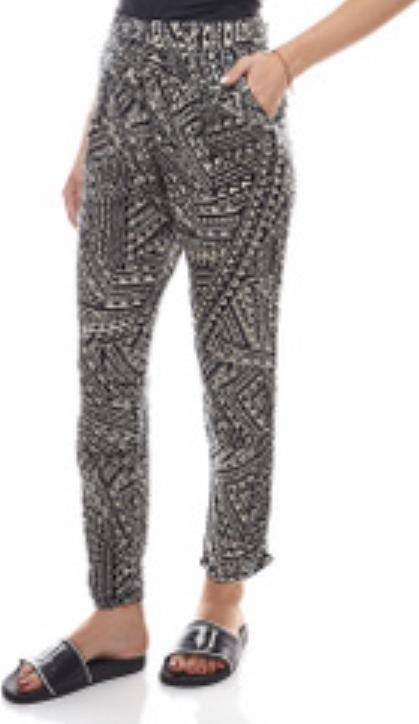 Отзыв на Рокси удобные штаны в Энто Смотреть воздухопроницаемые для женщин Жаккардовые Ткани Брюки черные Пески Черный/Белый из Интернет-Магазина Outlet46