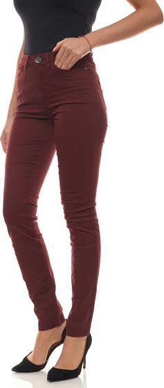 Отзыв на АЕК Брюки с 5 карманами одноцветные для женщин Пуш-Ап-Шланг узкие джинсы Fit Бордо из Интернет-Магазина Outlet46