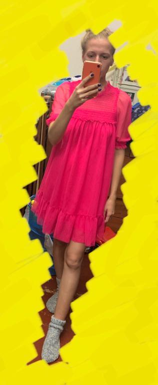 Отзыв на Gesmoktes Mesh-Kleid из Интернет-Магазина H&M
