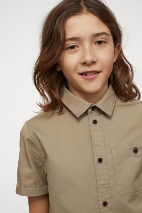 Отзыв на Рубашка с коротким рукавом с хлопка из Интернет-Магазина H&M