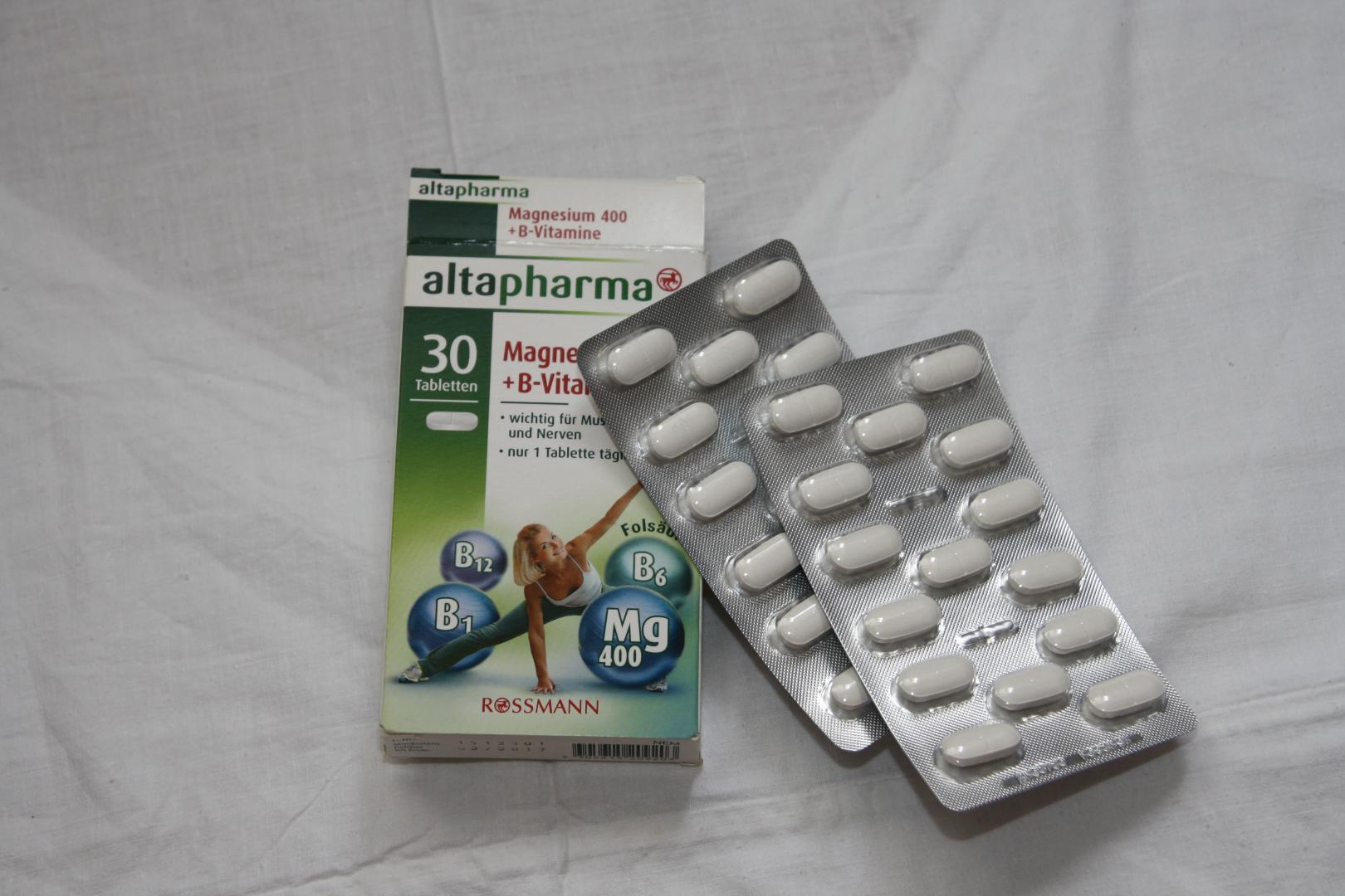 Отзыв на Altapharma Магний 400  Витамины Группы В из Интернет-Магазина ROSSMANN