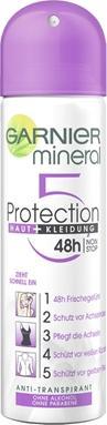 Отзыв на Garnier минеральные Анти Перспирант 5 Protection Кожа  Одежда 48h non ... уход из Интернет-Магазина ROSSMANN