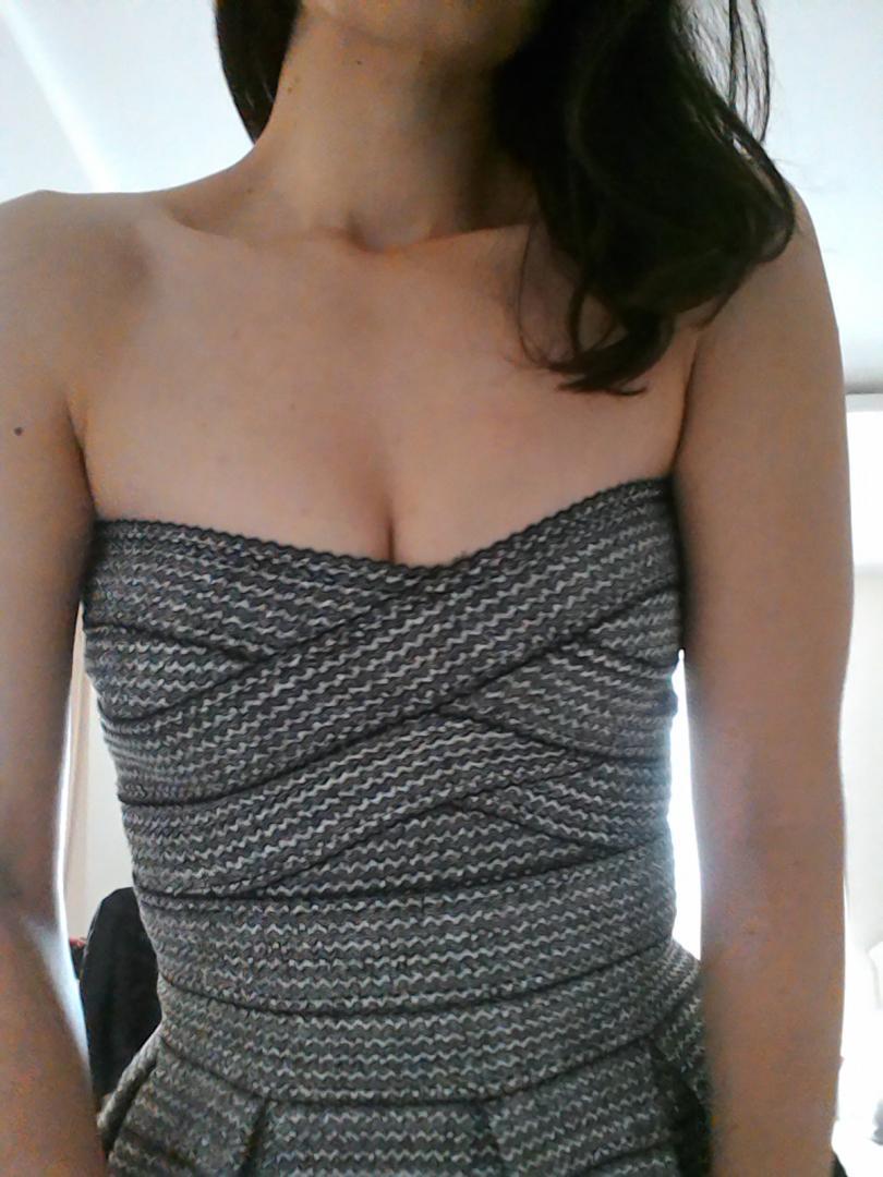 Отзыв на Без бретелек Платье из Интернет-Магазина H&M