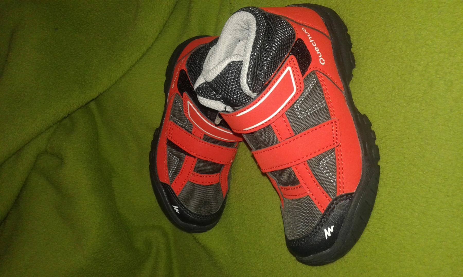 Отзыв на Обувь ARPENAZ 50 Mid для детей черный/красный QUECHUA из Интернет-Магазина Decathlon