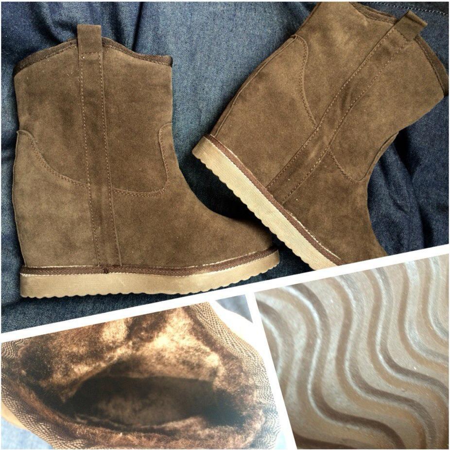 Отзыв на ТЕПЛЫЙ меховая подкладка для женщин ботильоны Темно-коричневый из Интернет-Магазина Ital Design