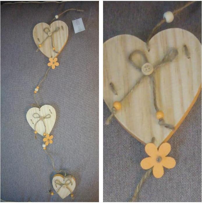 Отзыв на Подвесные украшения - Сердце ок. 65 x из Интернет-Магазина Kik.de