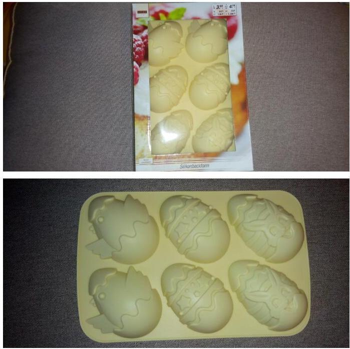 Отзыв на Силиконовые формы для выпечки - Пасхальные яйца ок. 26 обивкой, 17 3 x из Интернет-Магазина Kik.de