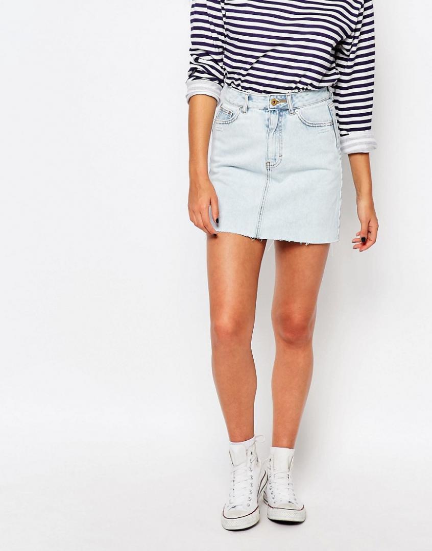Отзыв на Тянуть – мини юбка джинсовая с высокий Талия из Интернет-Магазина Asos