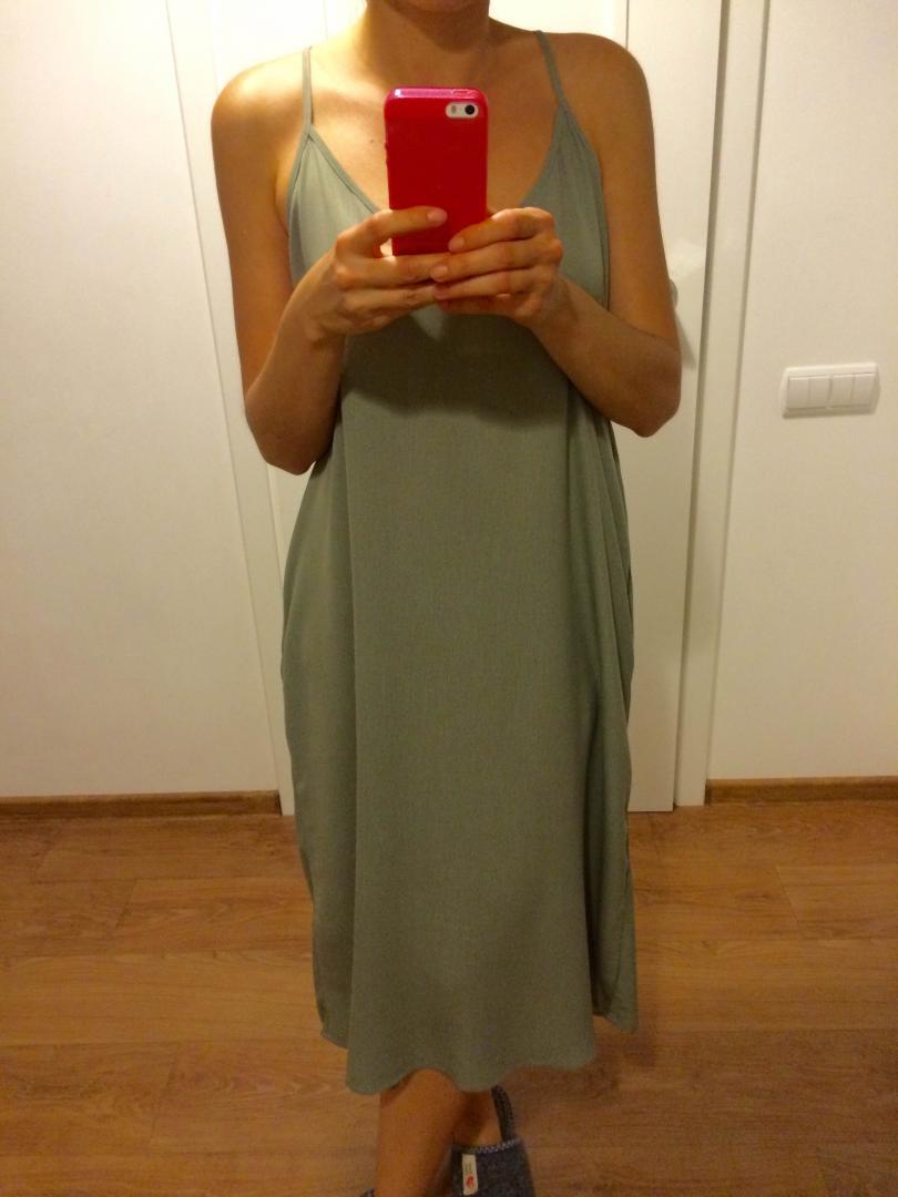 Отзыв на Gauze V-Образный Ками Midi Dress из Интернет-Магазина