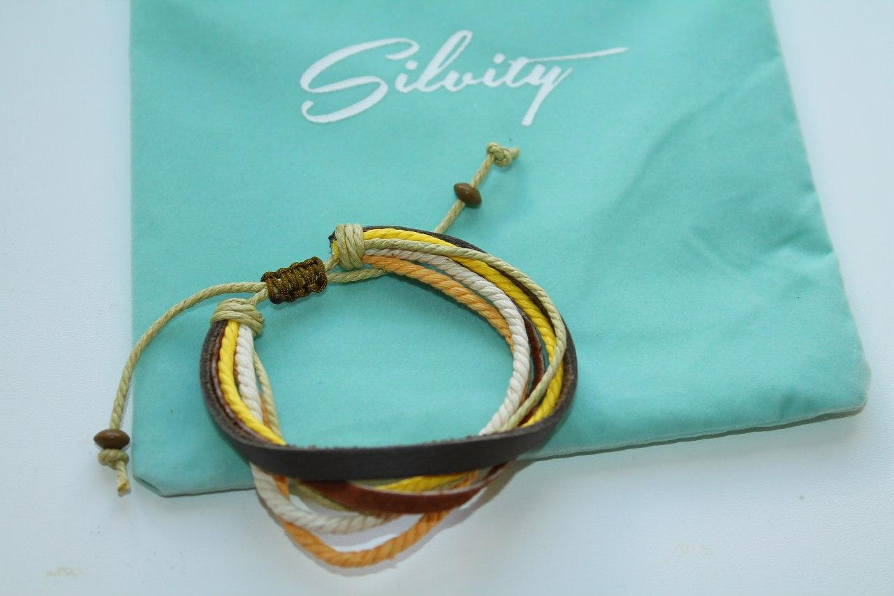 Отзыв на Браслет Натуральной Кожи: Дружба браслет в черный, коричневый, желтый, оранжевый  белый из Интернет-Магазина Silvity