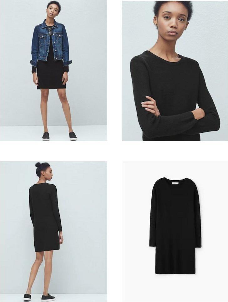 Отзыв на Трикотажное платье с ХЛОПОК-MIX из Интернет-Магазина MANGO Outlet