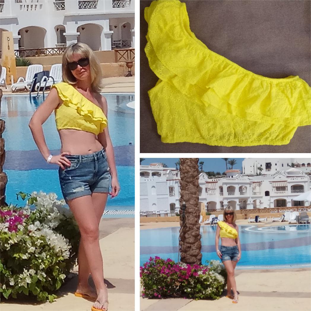 Отзыв на Короткое Топ с оборкой из Интернет-Магазина Zara