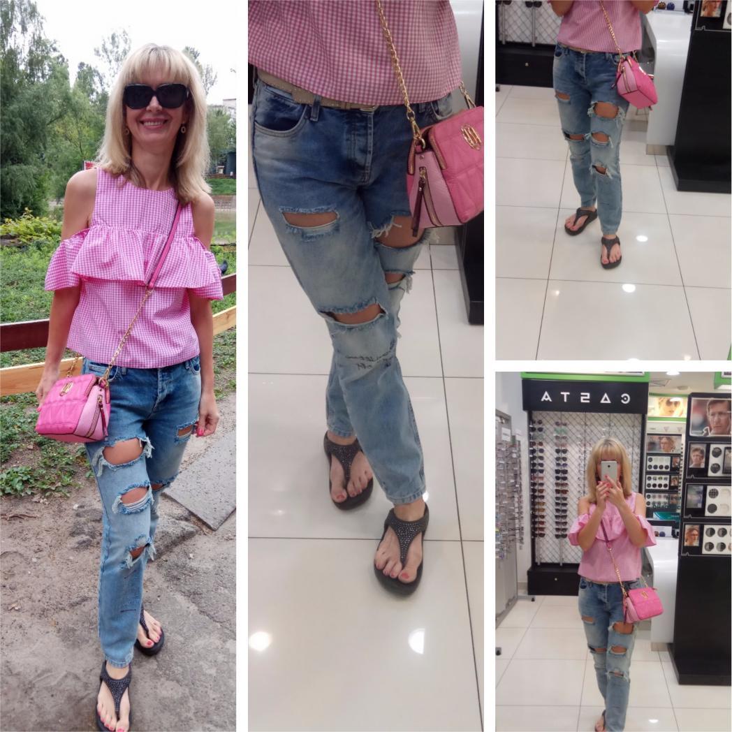 Отзыв на Эшли – Средний синий джинсы бойфренды с потертостями из Интернет-Магазина Riverisland.de