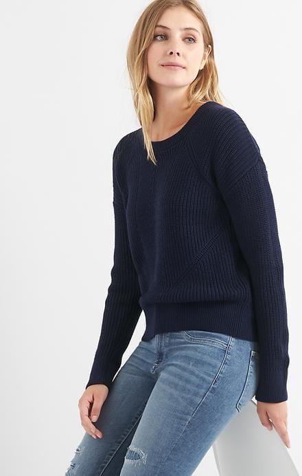 Отзыв на Back-strap ribbed sweater из Интернет-Магазина Gap