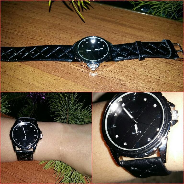 Отзыв на Наручные часы с бриллиантовой прошивкой, цвет: черный и серебристый из Интернет-Магазина Silvity