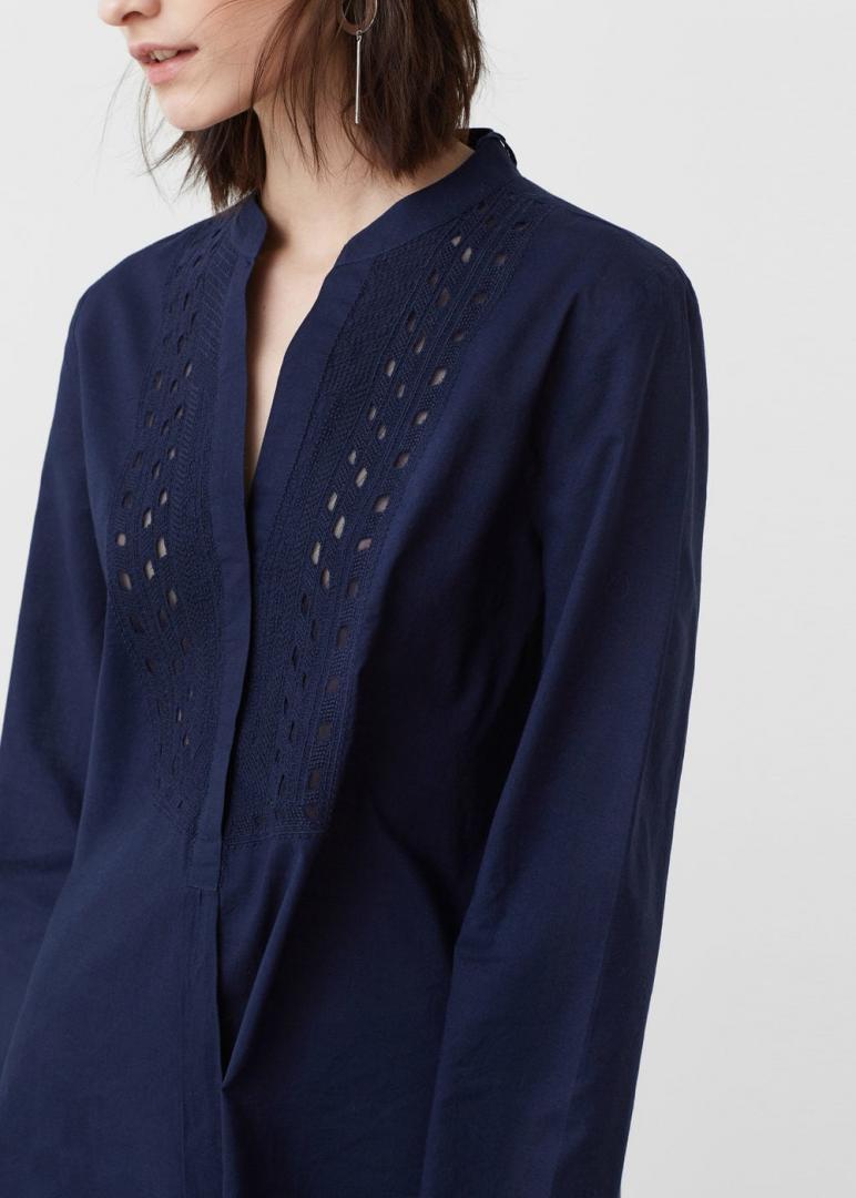 Отзыв на Хлопковая блузка с вышивкой из Интернет-Магазина MANGO Outlet