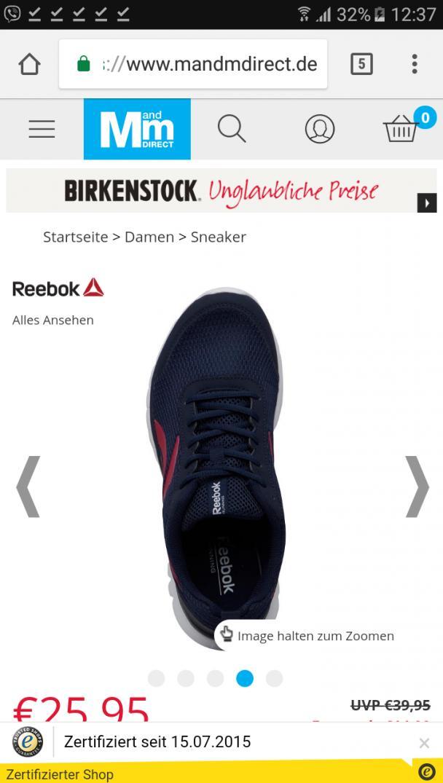 e3060147 Отзыв на Рибок для женщин Sublite Спорт Нейтрально кроссовки Синий (спортивную  одежду) из MandM Direct | ZAKUPKI.DE