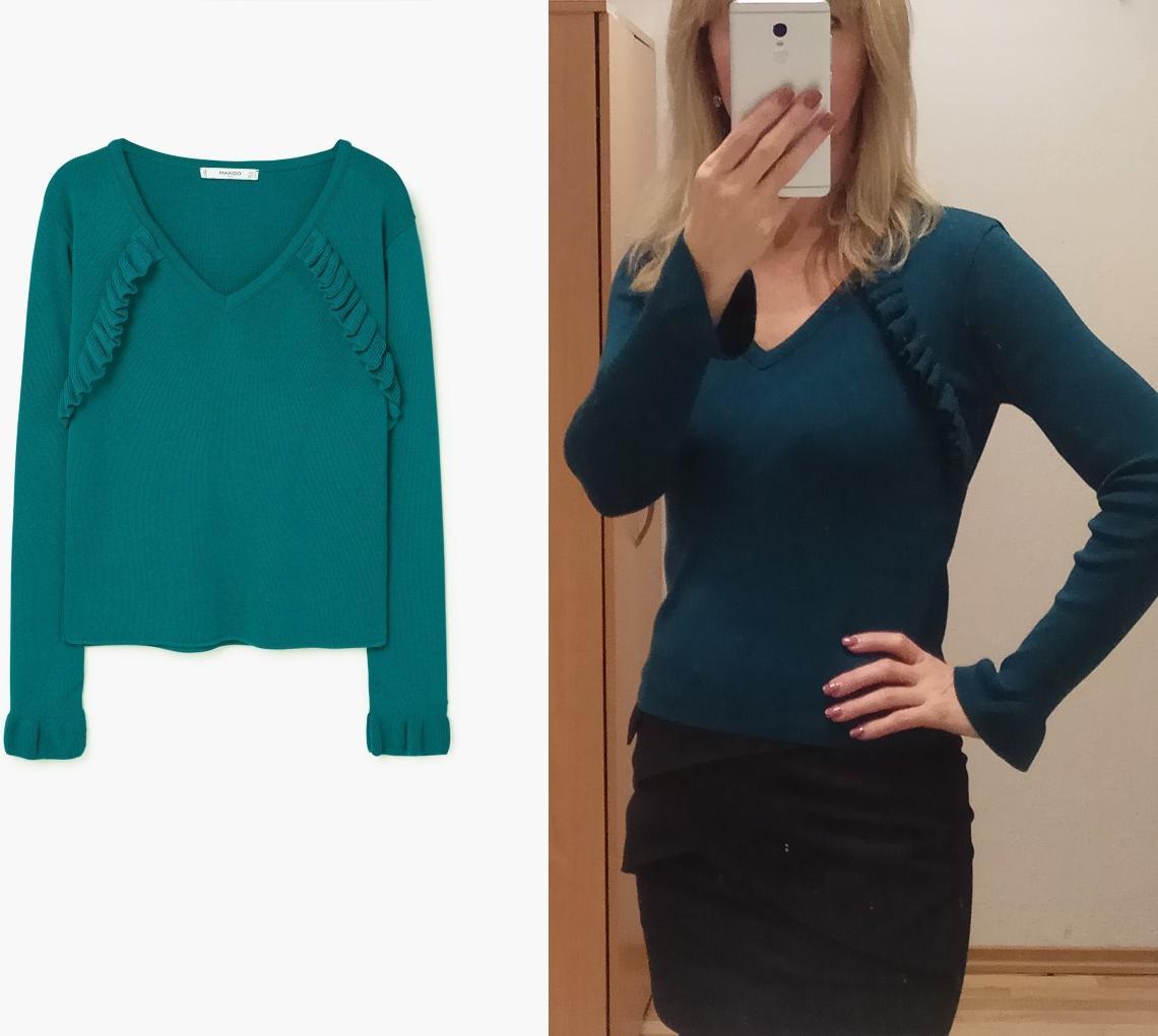 Отзыв на Пуловер с Рюши из Интернет-Магазина MANGO Outlet