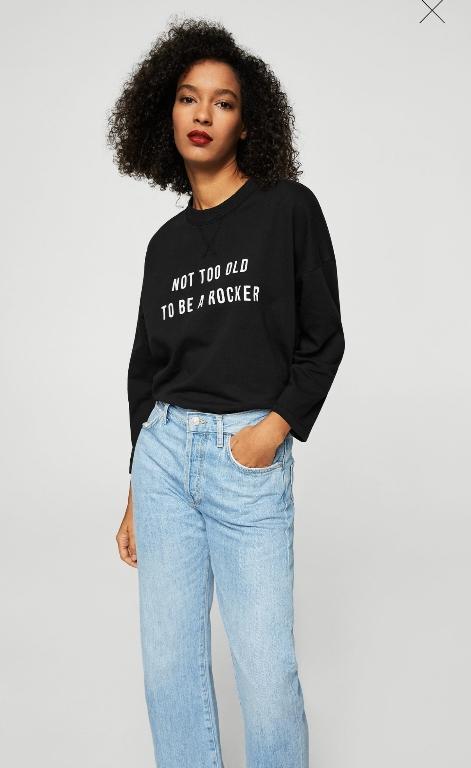 Отзыв на Хлопковый свитер с Надпись из Интернет-Магазина MANGO Outlet