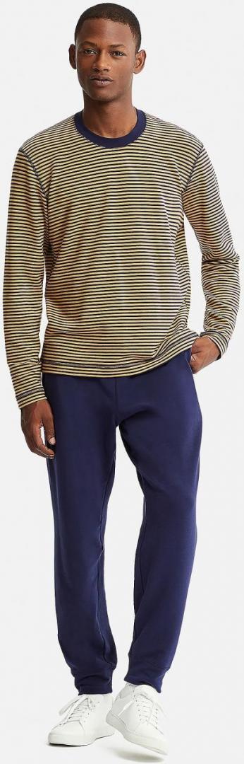 Отзыв на Для мужчин Ультра Стрейч С длинными рукавами ГОСТИНАЯ-НАБОР с полосами из Интернет-Магазина Uniqlo