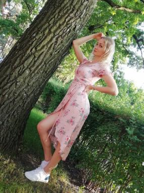 Платье на запах с Креп ткань