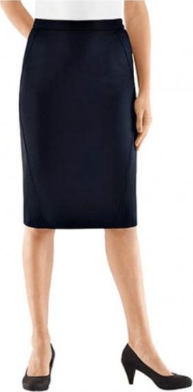 Вильгельм Monhemius Шерсть Юбка Юбка прямая для женщин Короткий размер Большой Размер голубой