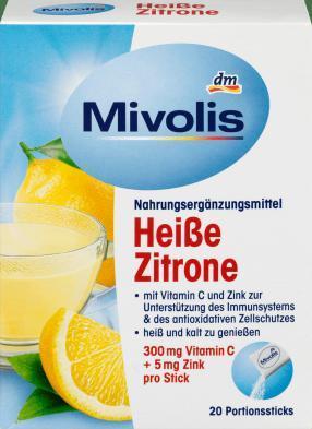Heißgetränk Heiße Zitrone, Portionssticks 20 St., 100 g