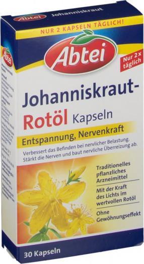 Johanniskraut Rotöl Kapseln, 30 St