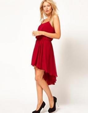 Отзыв на Love Шифон – Платье с после сзади рисунком Подол и Бретельках из Интернет-Магазина Asos