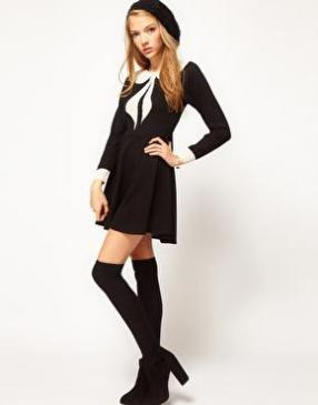 Отзыв на ASOS PETITE – Эксклюзивный Короткое платье с Питер Пэн воротник из Интернет-Магазина Asos