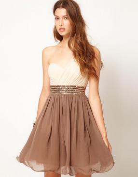Отзыв на Маленькая хозяйка – Одно Плечо Платье с украшенная Талия из Интернет-Магазина Asos