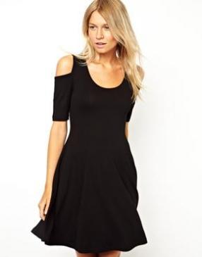 Отзыв на ASOS – С открытыми плечами Короткое платье в Стиль в 90-х Лет из Интернет-Магазина Asos